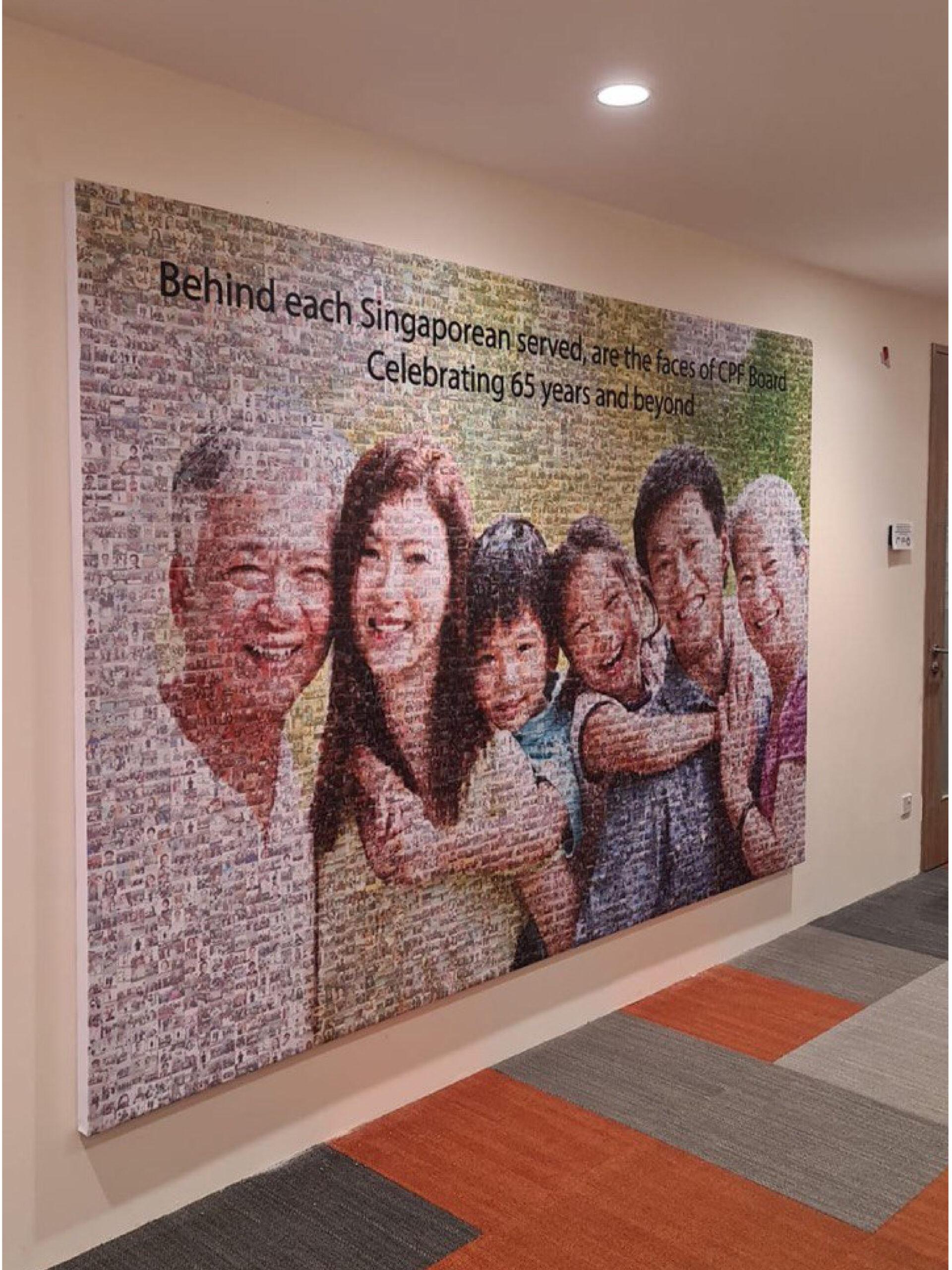 Photo Mosaic Canvas Singapore